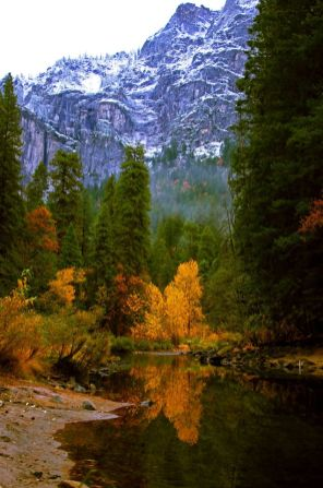 Yosemite with fall colors. Tweeted by the US Department of the Interior, 11/1/13.