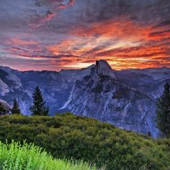 Sunrise over Half Dome. Tweeted by the US Department of the Interior, 4/22/13.