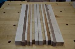 Next board is hard maple, walnut, cherry and canarywood.