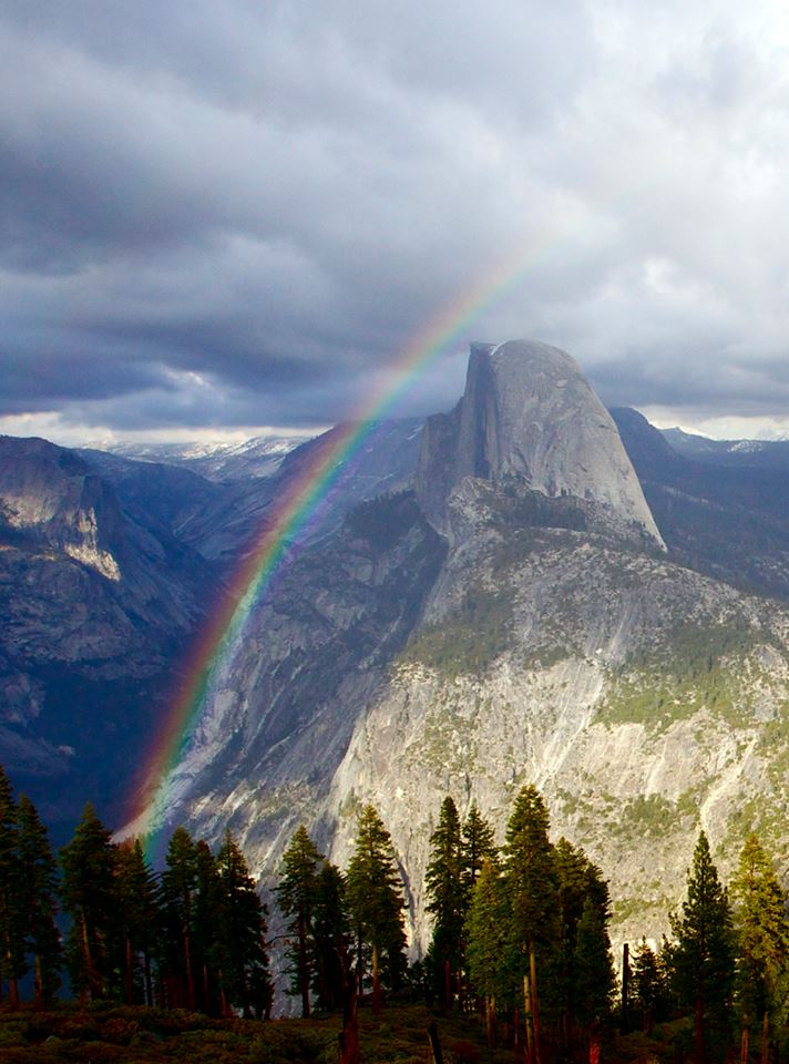 Photo taken from Glacier Point in the Yosemite National Park on 4/18 by a NPS employee. Posted on Tumblr by the US Department of the Interior on 4/22/14.