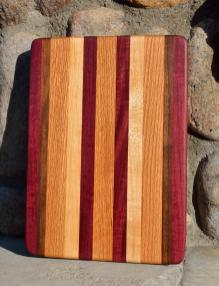 #27: Purpleheart, Walnut, Red Oak, Hard Maple.