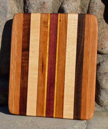 #33: Red Oak, Cherry, Walnut, Hard Maple, Yellowheart, Purpleheart.