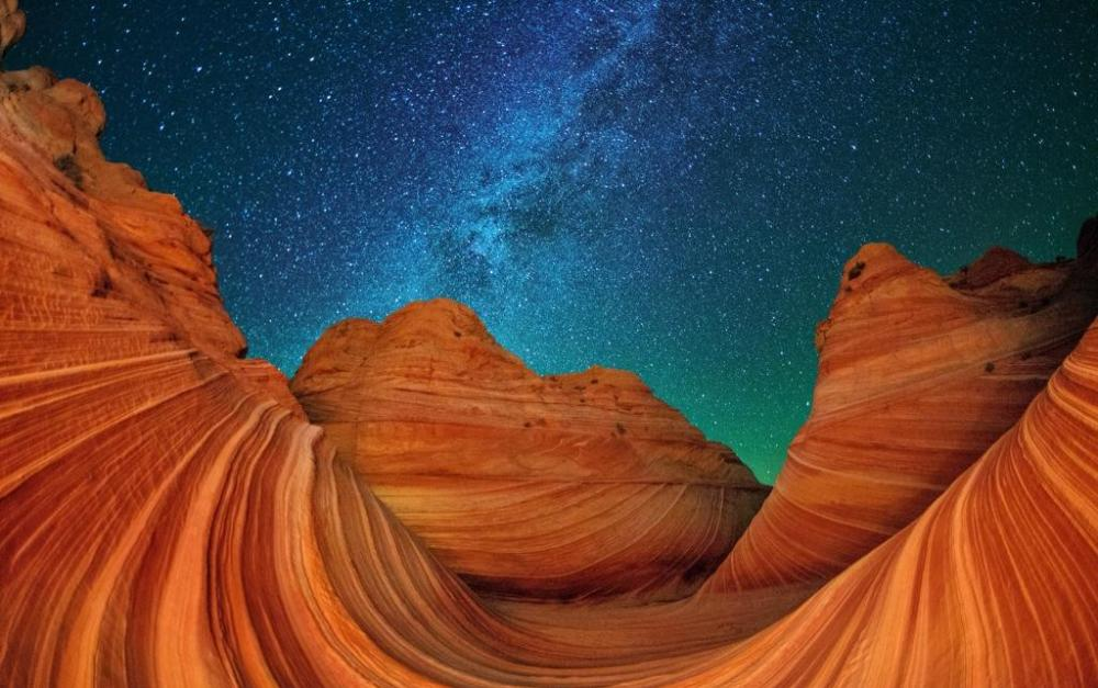 The Wave, in Zion National Park. Photo by Max Siegel. Tweeted by the US Department of the Interior, 7/19/14.