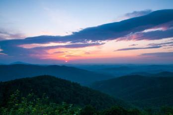 Sunrise at Shenandoah National Park. Tweeted by the US Department of the Interior, 8/27/14.