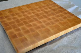 "Hard Maple end grain cutting board. 16"" x 20"" x 1-1/2"". Commissioned piece."
