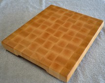 "# 70 Cutting Board, $125. Hard Maple end grain cutting board. 12"" x 14"" x 1-1/2""."