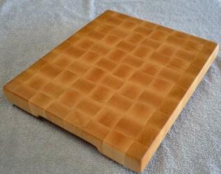 "# 70 Cutting Board, $125. Hard Maple end grain cutting board. 12"" x 14"" x 1-1/2""."