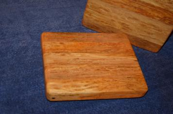 "# 13 Cheese Board, $35. Edge grain. Ash. 10"" x 8"" x 1-1/2""."