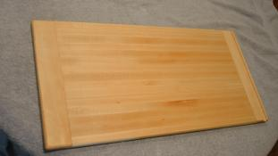 """Commissioned piece, replacing an in-counter cutting board. Hard Maple. 12"""" x 24"""" x 3/4""""."""
