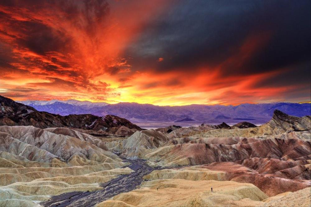 Check out this epic sunset from Zabriskie point, in Death Valley National Park. Photo by Mahendiran Mohan. Tweeted by the US Department of the Interior, 1/24/15.