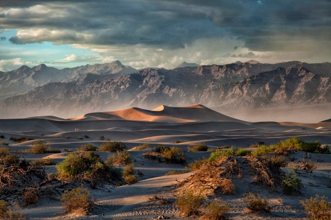 Death Valley National Park (located in California and Nevada) never disappoints with 3.4 million acres of desert and mountains — making it the largest national park in the lower 48 states. This gorgeous picture of the park was taken as a storm rolled in, giving more color and contrast to the Grapevine Mountains while churning sand creates the illusion of fog. Photo by Donna Fullerton. Posted on Tumbler by the US Department of the Interior, 1/30/15.