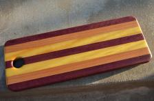 Purpleheart, Cherry and Yellowheart.
