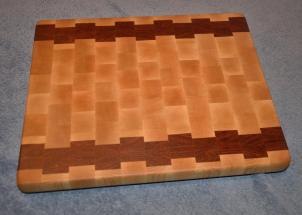 "Cutting Board # 15 - 016. Hard Maple and Jatoba end grain. 12"" x 16"" x 1-1/4""."
