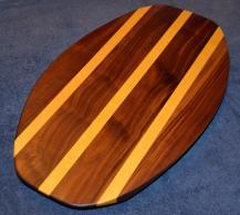 Surfboard # 15 - 04. Black Walnut and Yellowheart.