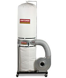 The Sears Craftsman Dust Collector on a happier day.