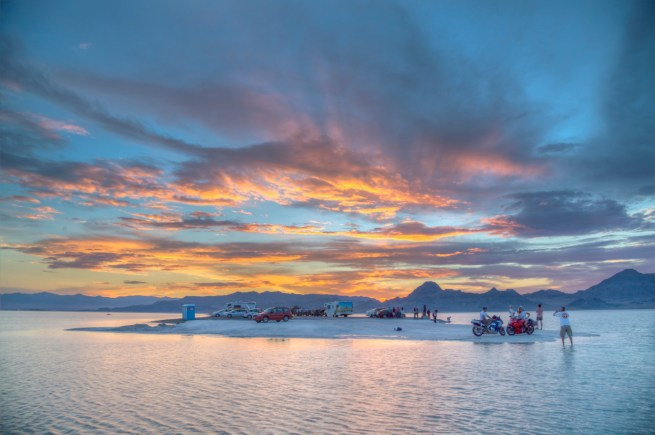 Utah's Bonneville Salt Flats. Photo by Bob Wick. Posted on Tumblr by the US Department of the Interior, 4/10/15.