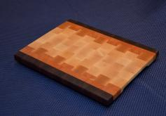 "Cutting Board # 15 - 030. Black Walnut, Cherry and Hard Maple End Grain. 12"" x 16"" x 1-3/8""."