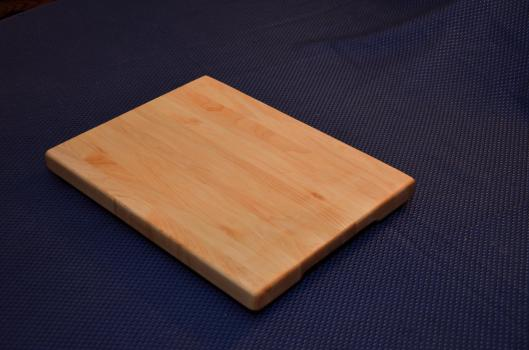 "Cutting Board 15 - 034. Hard Maple, edge grain. 12"" x 16"" x 1""."
