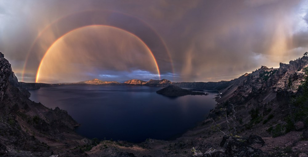 This amazing photo of a double rainbow over Oregon's Crater Lake National Park was taken last July after an epic thunderstorm. Photo courtesy of Jasman Singh Mandar. Posted on Tumblr by the US Department of the Interior, 6/3/15.