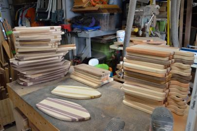 I have a lot of sanding to do. 70 boards are being finished this weekend.