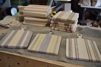 17 small sous chef boards were finished.