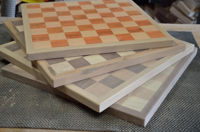 Another new item, chess boards, finally got out of the shop.