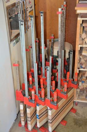 You can never have enough clamps ... or room to store the ones you do have.