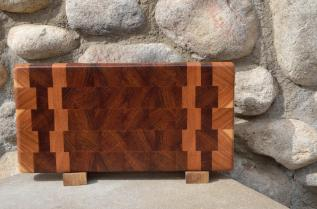 "Small Board # 15 - 040. Cherry & Jatoba end grain. 8"" x 14"" x 1-1/2""."