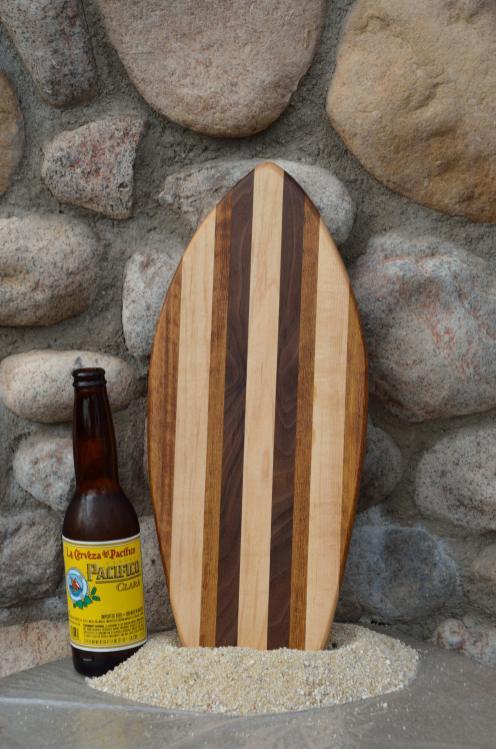 Small Surfboard # 15 - 02. Teak, Hard Maple & Black Walnut.