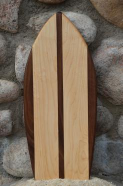 Small Surfboard # 15 - 04. Black Walnut & Hard Maple.