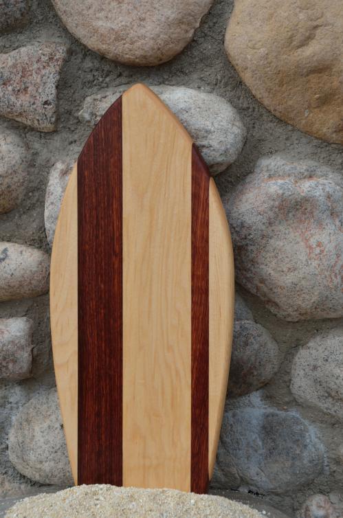 Small Surfboard # 15 - 05. Hard Maple & Jarrah.
