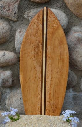 Love this board. Small Surfboard # 15 - 07. Hand selected Birdseye Maple & Walnut.