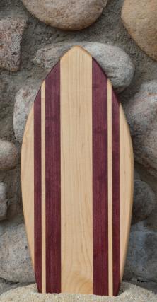 Small Surfboard # 15 - 08. Hard Maple & Purpleheart.