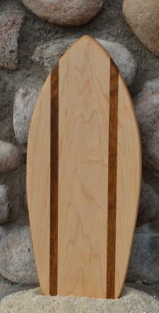 Small Surfboard # 15 - 10. Hard Maple & Teak.