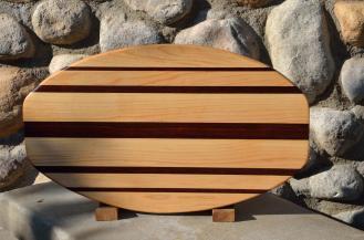 Surfboard 15 - 12. Hard Maple & Jarrah.