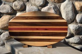 Surfboard 15 - 15. Hard Maple, Black Walnut, Cherry & Purpleheart.