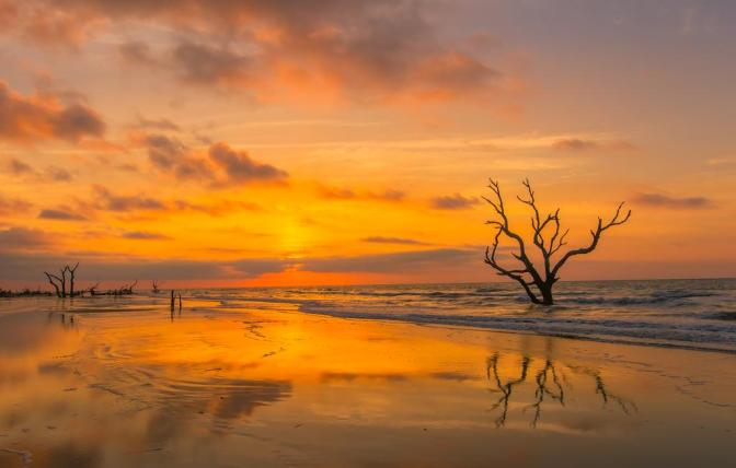 Sunrise at the Cape Romain National Wildlife Refuge. Tweeted by the US Department of the Interior, 7/27/15.