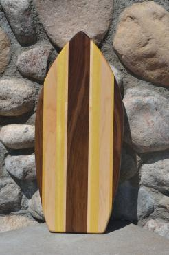 Medium Surfboard 15 - 01. Black Walnut, Hard Maple and Yellowheart.
