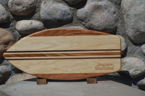 Medium Surfboard for Anacapa Homes. # 2. Cherry, Hard Maple & Black Walnut.