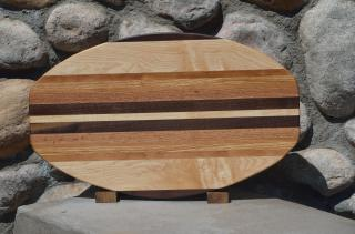 Large Surfboard # 15 - 22. Black Walnut, Hard Maple, Cherry & Red Oak.