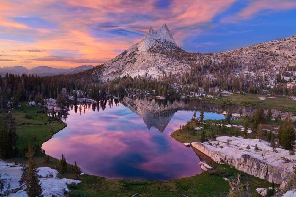 Cathedral Lakes at Yosemite National Park. Photo by Sean Goebel. Tweeted by the US Department of the Interior, 8/23/15.