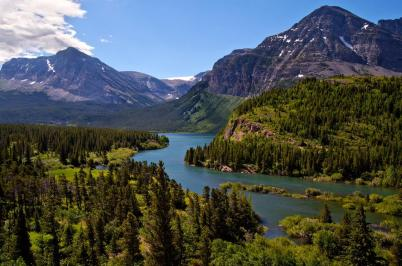 Montana's Glacier National Park. Tweeted by the US Department of the Interior, 9/25/15.