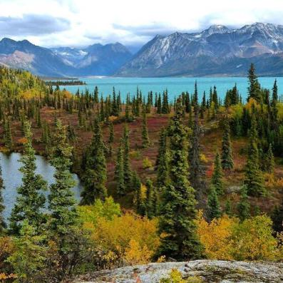 The colors of fall begin to appear in Alaska's Lake Clark National Park. Tweeted by the US Department of the Interior, 9/10/15.