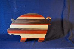 "Pig # 15 - 14. Black Walnut, Padauk & Hard Maple. 19"" x 12"" x 1-1/8""."
