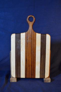 "Sous Chef # 15 - 43. Hard Maple, Black Walnut & Jatoba. 9"" x 16"" x 3/4""."