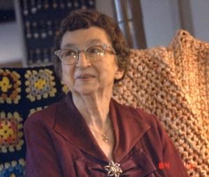 Juanita Boring Mowry, 1984.