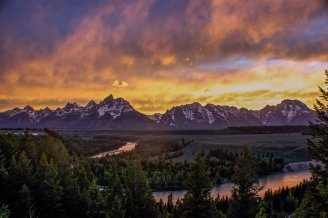 Wyoming's Grand Teton National Park. Photo by Christina Adele Warburg. Tweeted by the US Department of the Interior, 12/11/15.