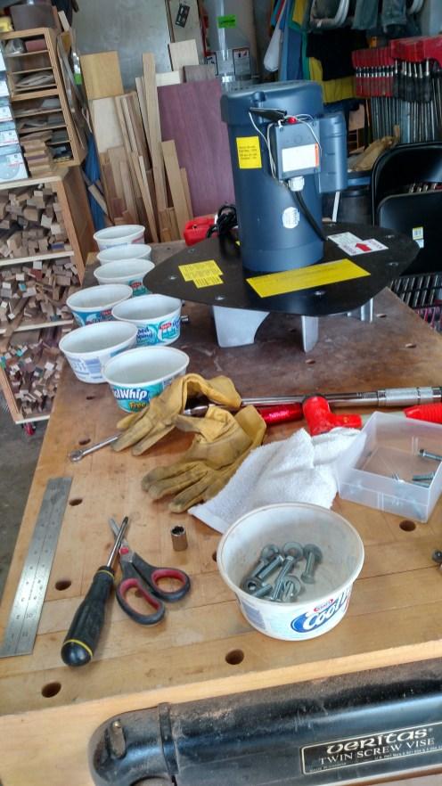 More & more parts & tools.