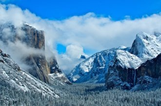 Yosemite's El Capitan in winter. Tweeted by the US Department of the Interior, 1/15/16.