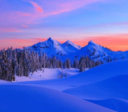 Within the 236,000 acres of Mount Rainier National Park in Washington is the Tatoosh Range. A popular area for hikers and photographers, the range include 13 prominent peaks with awesome names like Unicorn Peak, Manatee Mountain and The Castle. Don't they look great at sunset? Photo by Doug Shearer. Posted on Tumblr by the US Department of the Interior, 2/6/16.